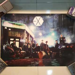 EXO Official Japan Coming Over Poster