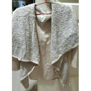 (可換物)米色罩衫外套