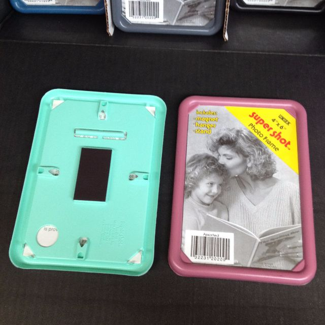 """Super Shot 4""""x6"""" Picture Frames - variety of colours; individ or bulk. Great for craft/fridge etc."""