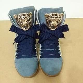 韓國藍色虎頭短靴