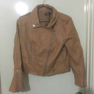 Brown leather jacket (dotti)