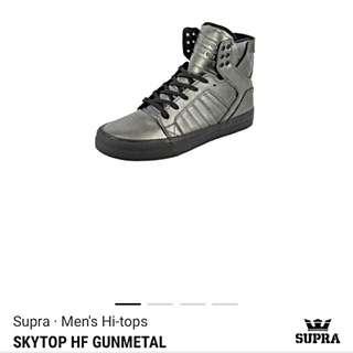 Supra Gunmetal Hi-Tops
