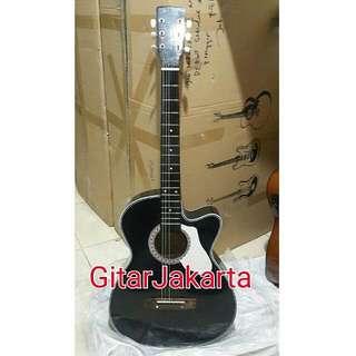 Gitar Akustik Hitam Murah Buat Belajar Jakarta
