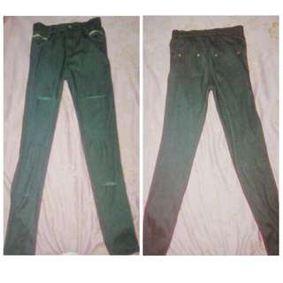 ripped jeggings P100+50 for shipping fee