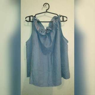 Cadet Blue Blouse