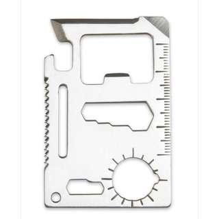 EDC stainless multi tool card