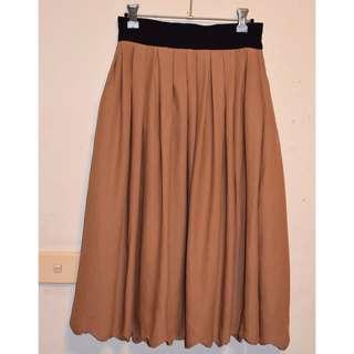 H&M Knee Length Brown Skirt