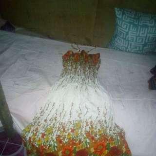pre love tube floral beach dress