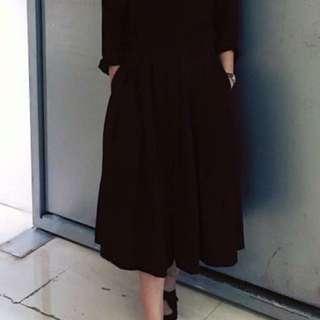 黑色緞面裙