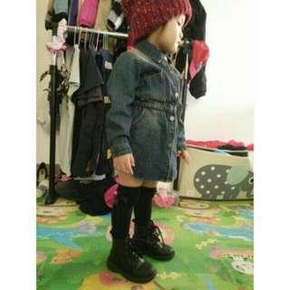 正韓 女童 牛仔裙 牛仔洋裝