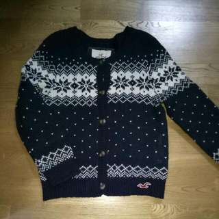 降價$700Hollister 雪花針織外套