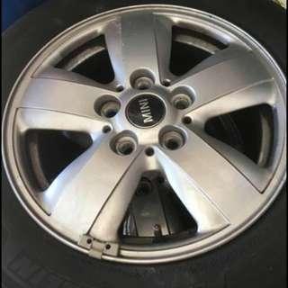 "4x Mini Rims And Tyres 15"""