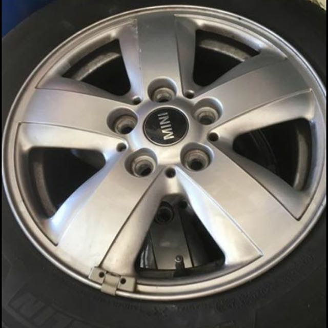 4x Mini Rims And Tyres 15""