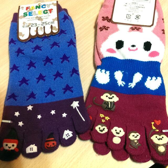 超可愛五指襪~每雙50