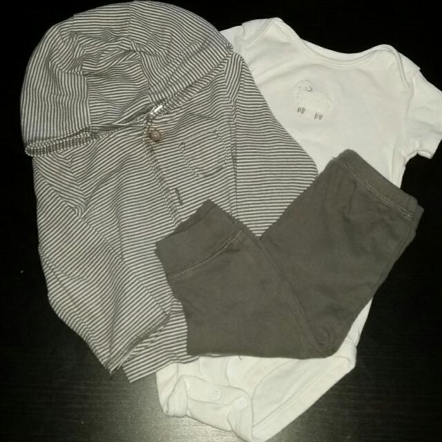 9mos. Carter's 3 Piece Lamb Outfit