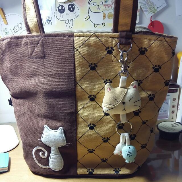 貓的布屋小提袋