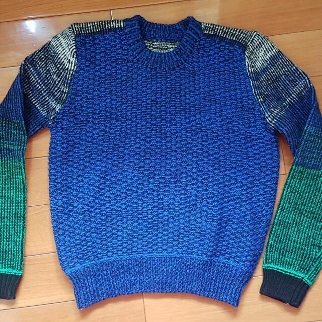 (待匯款)古著拼色毛衣