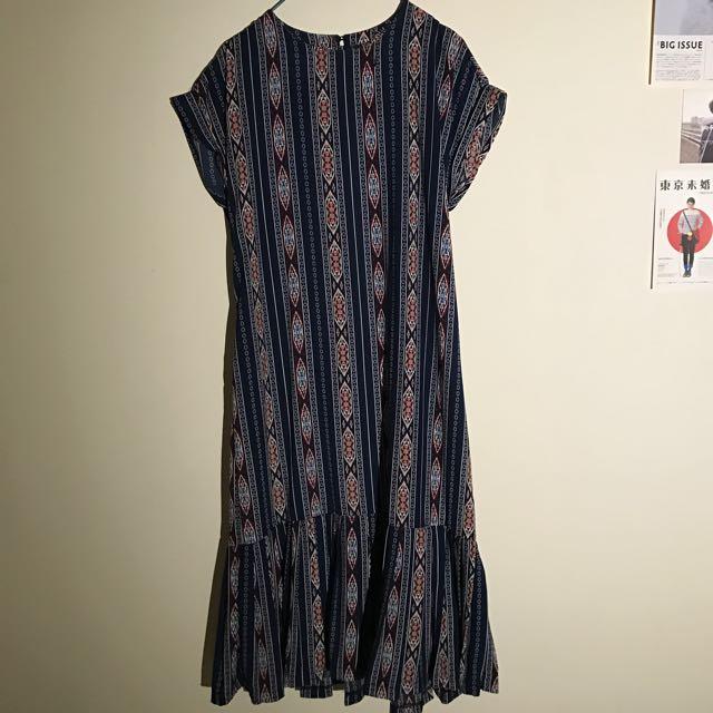 民族風連身洋裝