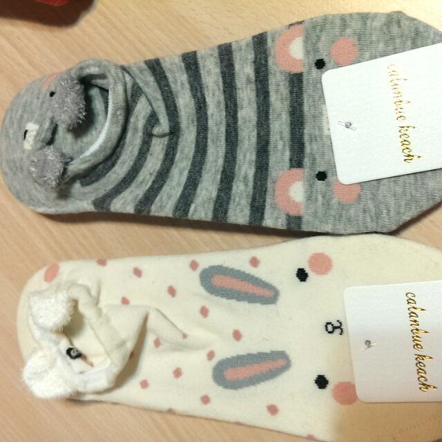 超可愛動物襪~腳跟有可愛動物臉 每雙40