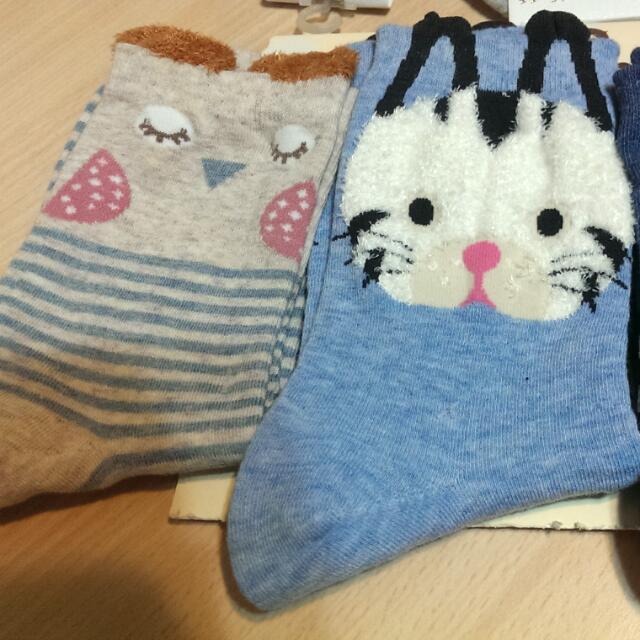 超可愛動物襪 (長度腳踝以上)  每雙40