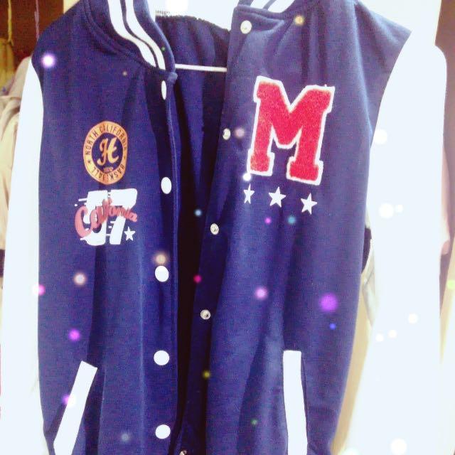 棒球外套 塗鴉 徽章