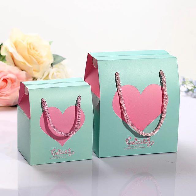 婚禮小物 捧花禮 禮盒包裝 喜糖包裝 紙盒 手提紙盒 提繩包裝 結婚禮盒 愛心禮盒