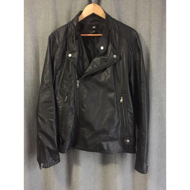 • H&M • Vegan Leather Biker Jacket