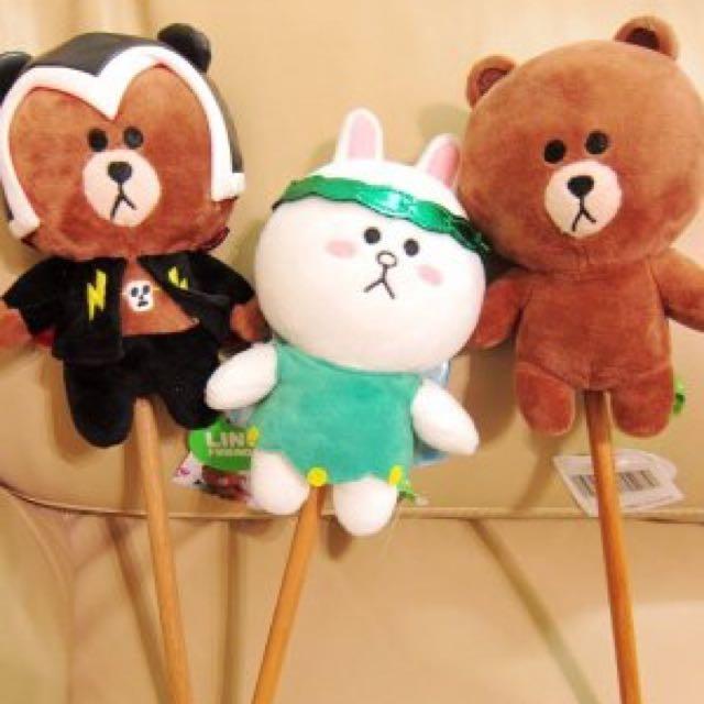 正版 LINE FRIENDS 熊大 莎莉 兔兔 造型 按摩棒 不求人 雷電熊大 棒槌 情人節 禮物