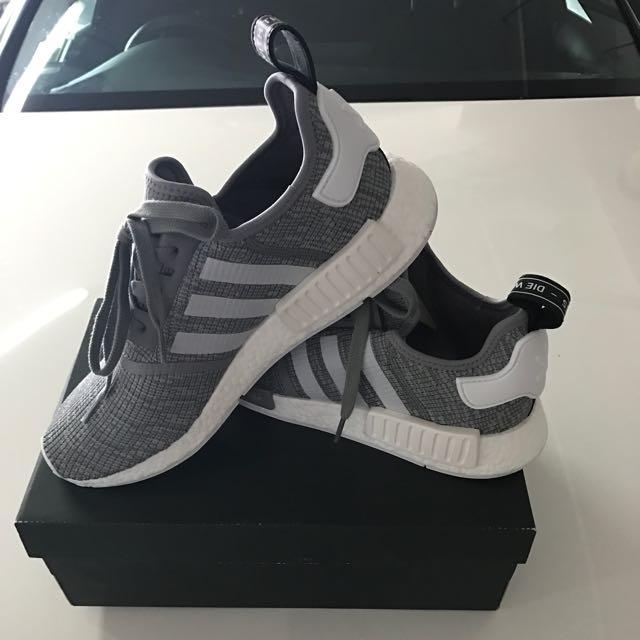 innovative design 23c6d e148e Adidas NMD R1 Glitch Solid Grey Camo, Mens Fashion, Footwear on Carousell