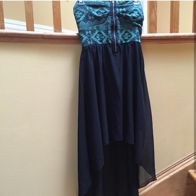 Ardene hi low Aztec strapless dress