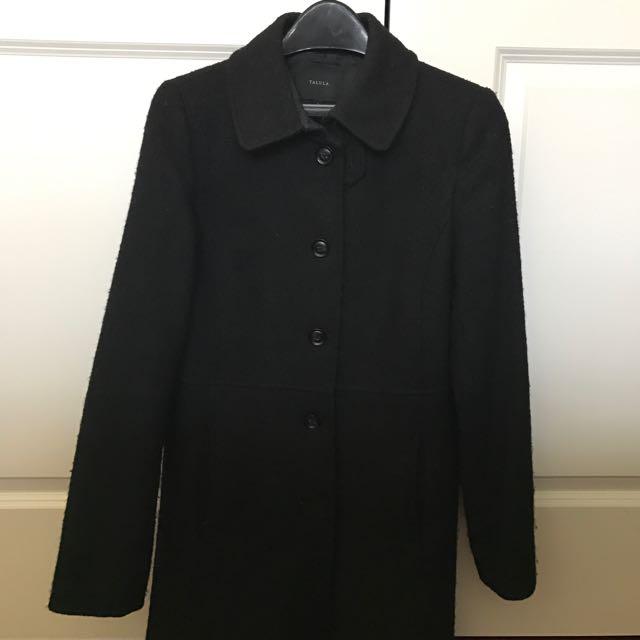 REDUCED Aritzia Talula Long Black Wool Coat