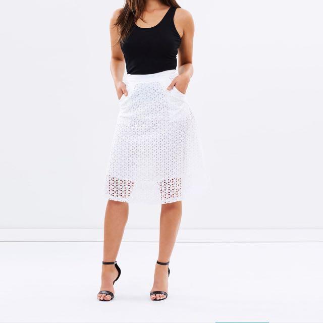 ATMOS&HERE Mirila Eyelet Skirt