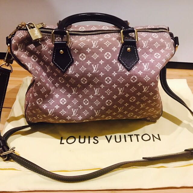 AUTHENTIC LOUIS VUITTON Monogram Idylle Speedy Bandouliere