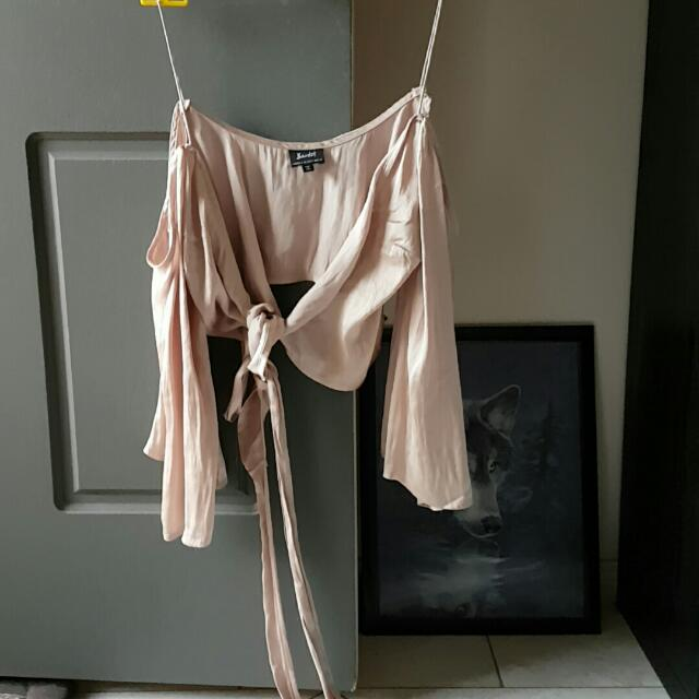 Bardot Silk Crop Top