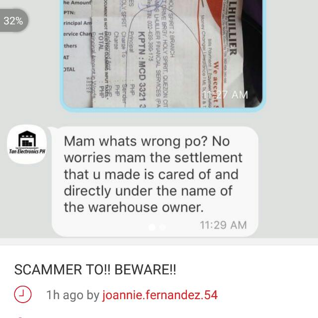 Beware of this Scammer!! tan.electronicsph