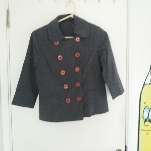 Pea Coat Semi Blazer Grey