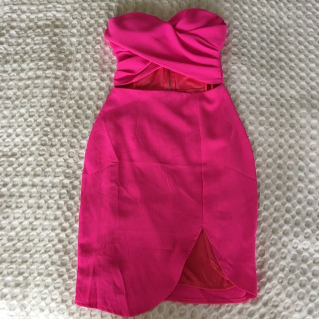 Bright Pink - Angel Biba - Strapless Dress