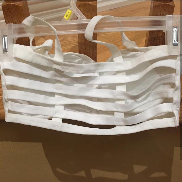 caged bralette white