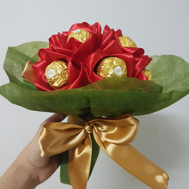 Chocolate Flower Bouquet, Design & Craft, Handmade Craft on Carousell