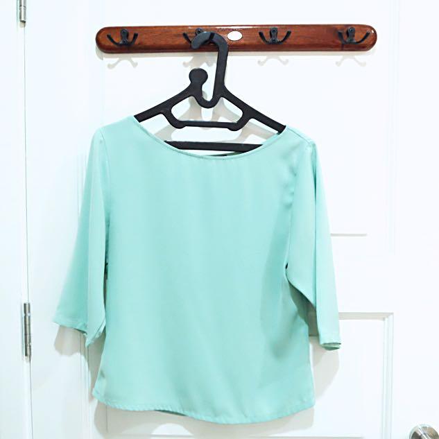 CLOTH INC Tiffany Blue Blouse