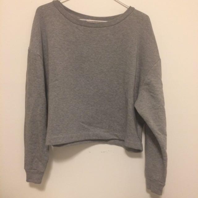Cozy Grey Oversized Sweatshirt