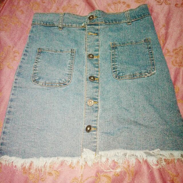 denim highwaisted skirt P200+50for sf mnla area