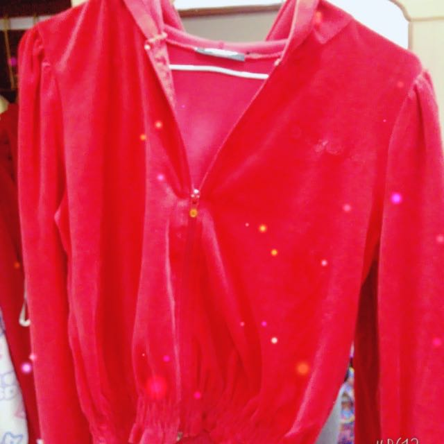 DKNY 紅色絨面外套