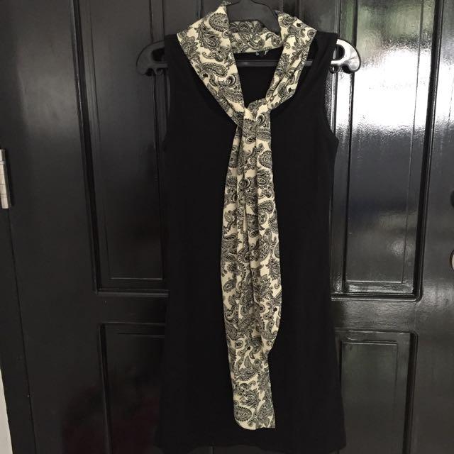 Dress With Scarf