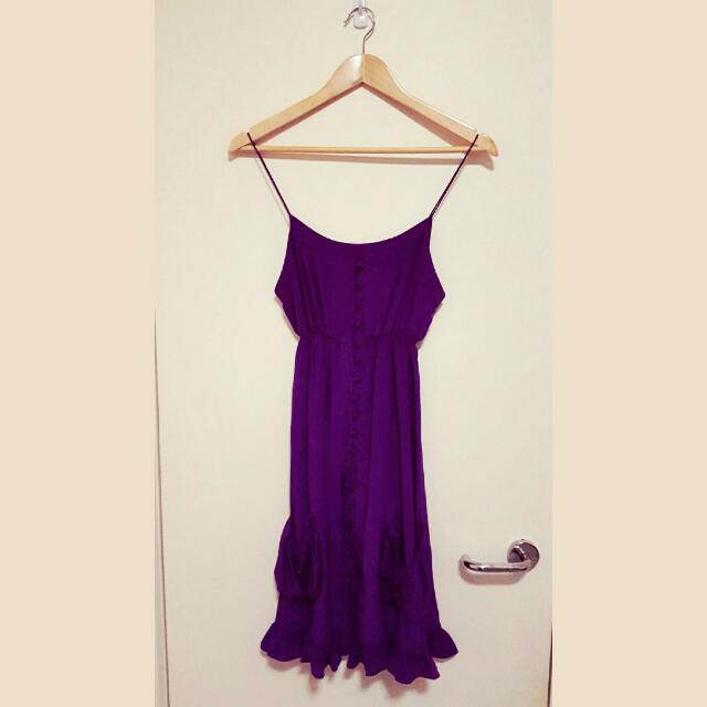 Ducie 100% silk royal purple dress [Size S]