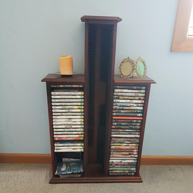 Dvd (Ps, Wii, Xbox Games) And Cd Tower