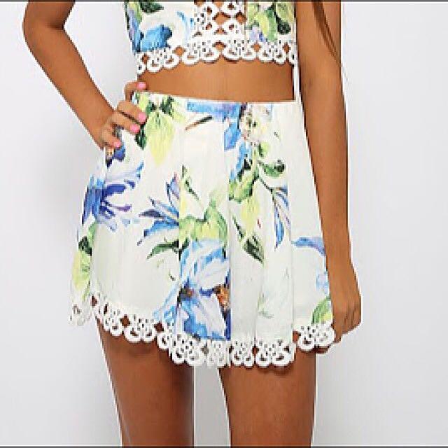 Floral Shorts Size 12