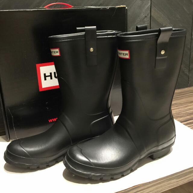 Hunter 黑色雨靴 二手 男鞋