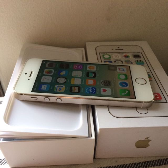 iphone 5s 16gb warna gold fullset