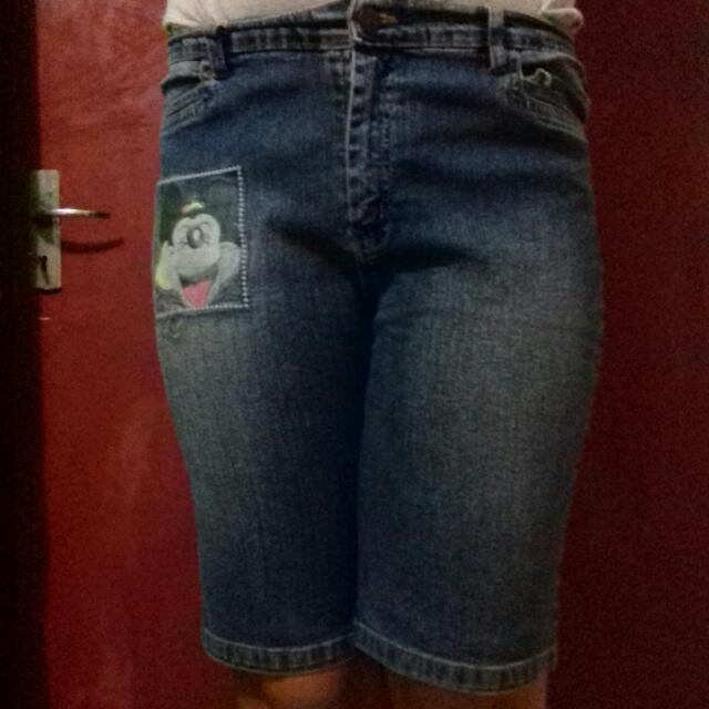 Jeans 3/4 blue mickey by Sun-LY